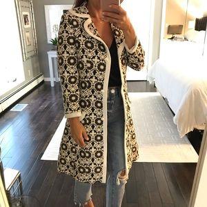 d6d32ecea57ea9 lilli Ann. Lilli Ann Couture white black brown jacket VINTAGE